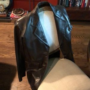 Yves Saint Laurent 'rive gauche' leather jacket